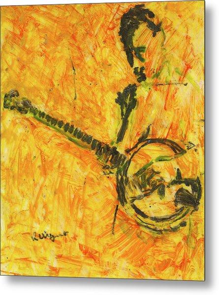 Banjo Player Metal Print by Richard Wynne