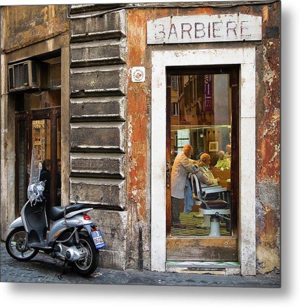 Barbiere Metal Print