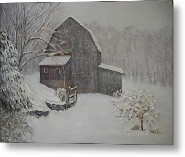 Barn In Up State New York Metal Print