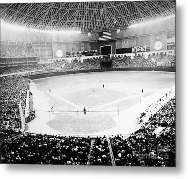 Metal Print featuring the photograph Baseball: Astrodome, 1965 by Granger