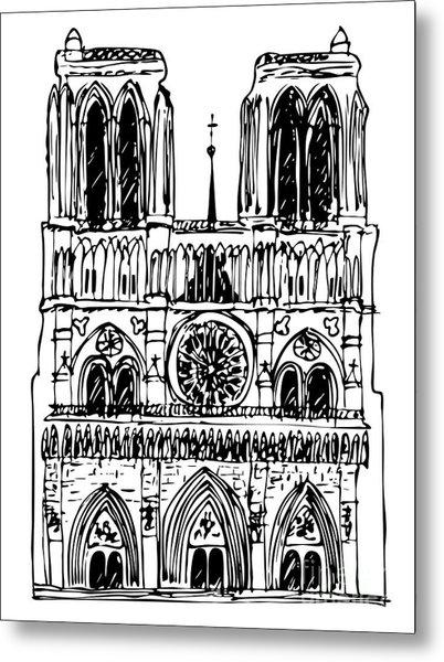 basilica Notre Dame Metal Print
