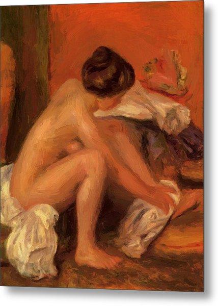 Bather Drying Her Feet 1907 Metal Print
