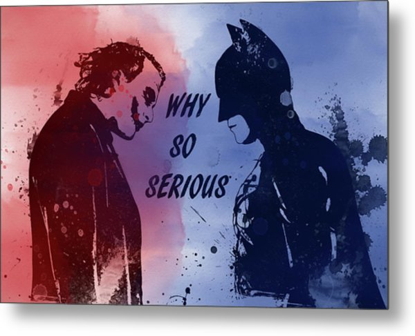 Batman And Joker Metal Print