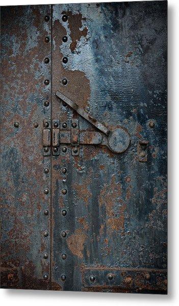 Battery Door Metal Print