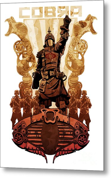 Battle Cry Metal Print by Brian Kesinger