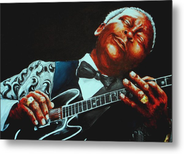 Bb King Of The Blues Metal Print