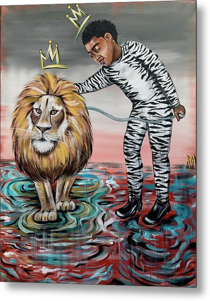Be Courageous My Son Metal Print