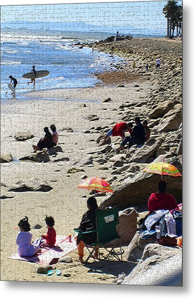 Beach Babies 2 Metal Print by Robin Hernandez