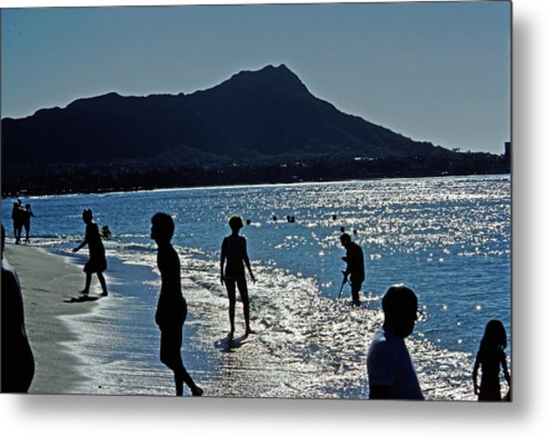 Beach People Metal Print