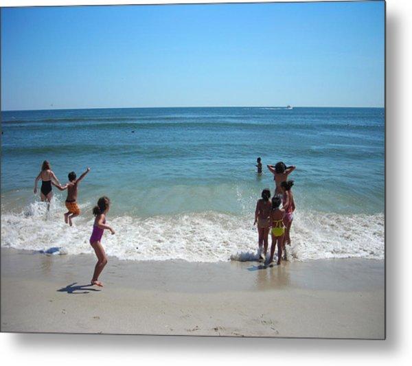 Beach Play Metal Print by Ruth Sharton