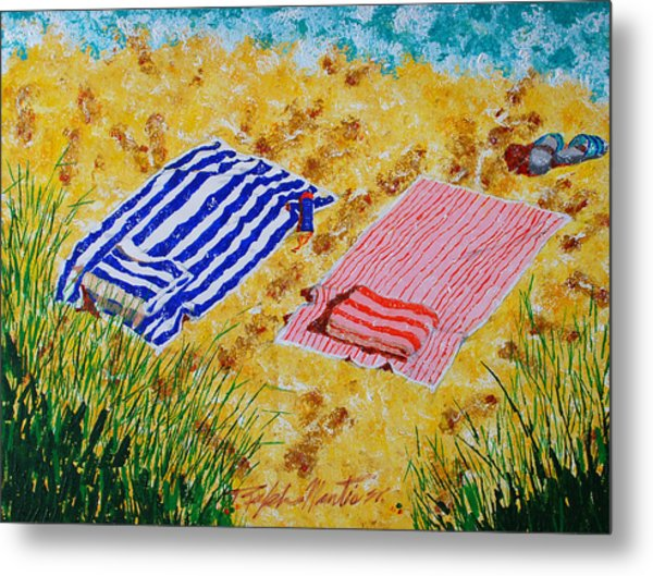 Beach Towels  Metal Print