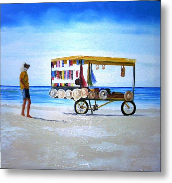 Beach Vendor Metal Print