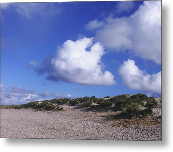 Beach With Clouds Metal Print by Sascha Meyer