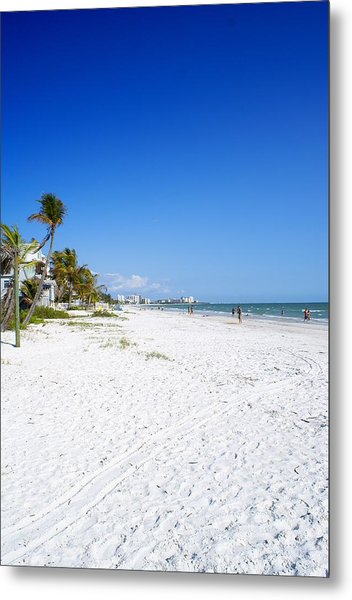 Beachy White Sands Metal Print