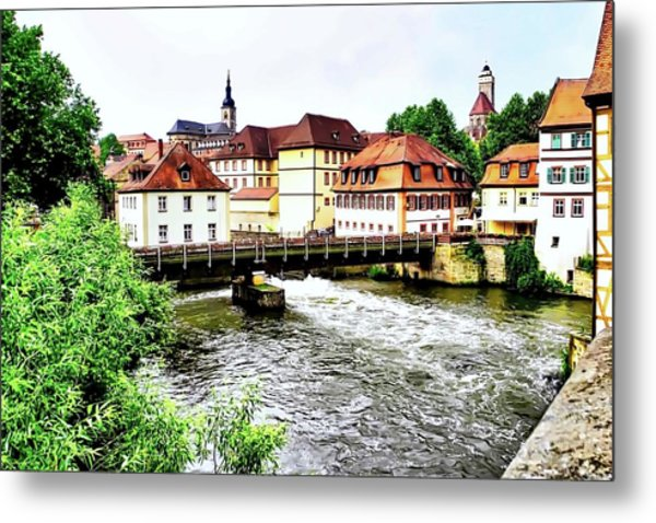 Beautiful Bamberg On The River Metal Print