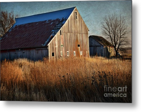 Beautiful Barn In Autumn  Metal Print