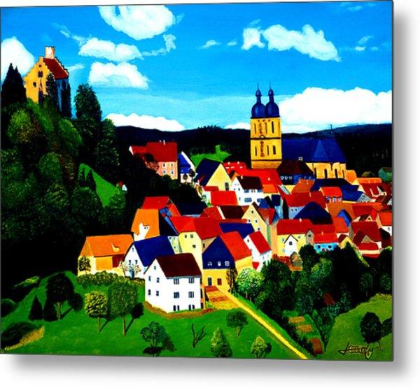 Beautiful Bavarian Village Metal Print