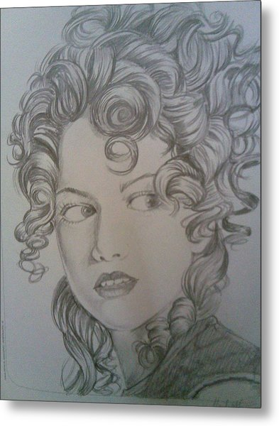 Beautiful Curls Metal Print by Nischitha Shenoy