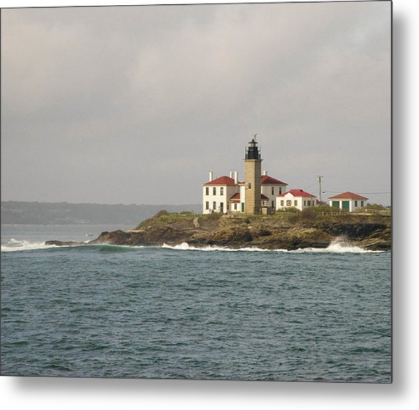 Beavertail Lighthouse Metal Print