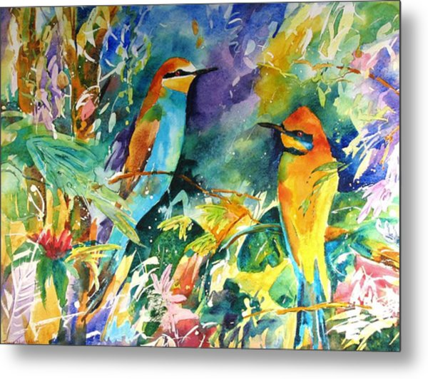 Bee Eaters Metal Print