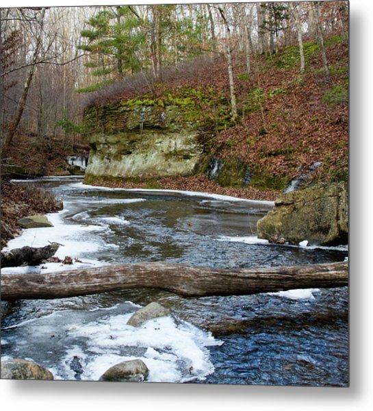 Bend In Creek Metal Print