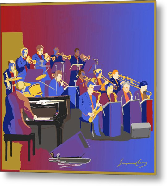 Big Band Metal Print