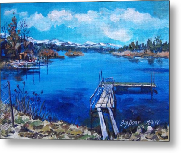 Big Bear Lake 1 Metal Print by Min Wang