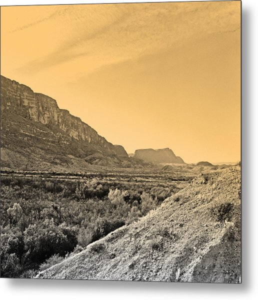 Big Bend Natinal Park At Sunset Metal Print