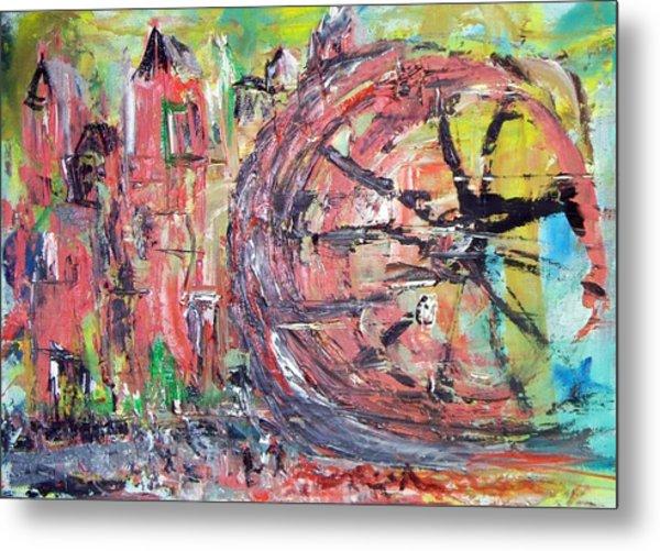 Big City Wheel Vs Little People Metal Print by Lynda McDonald