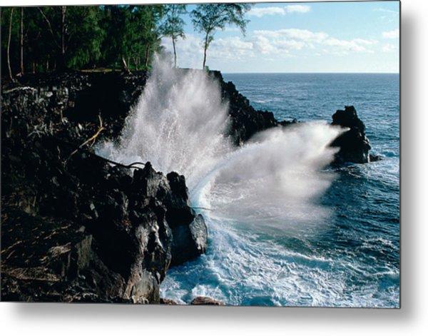 Big Island Waves Metal Print by Gary Cloud