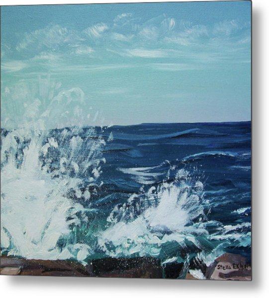 Big Splash At Schoodic Point Metal Print