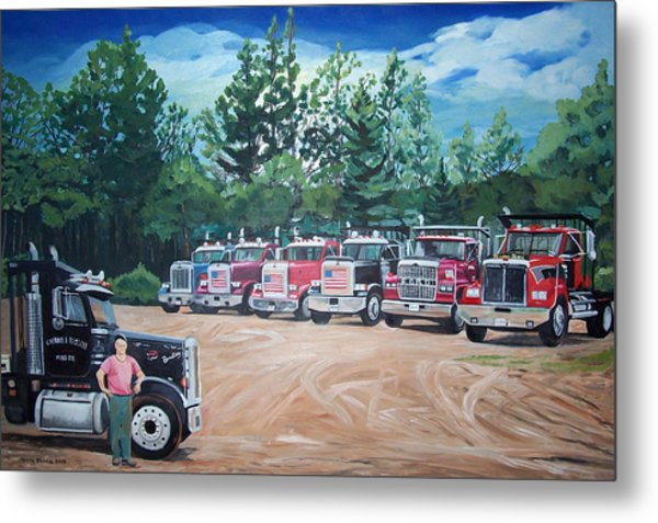 Big Trucks Metal Print