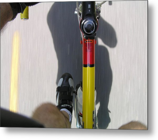 Bike Perspective Metal Print