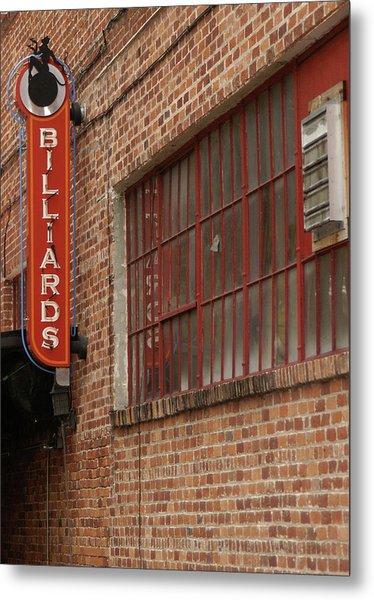 Billard To Bricks Metal Print