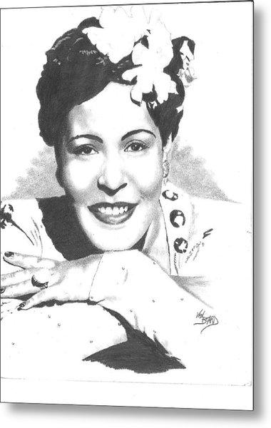 Billie Holiday Metal Print by Van Beard