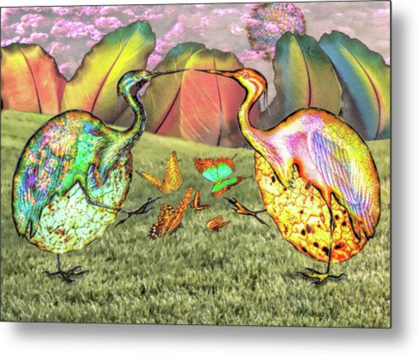 Birds Of Feathers Metal Print