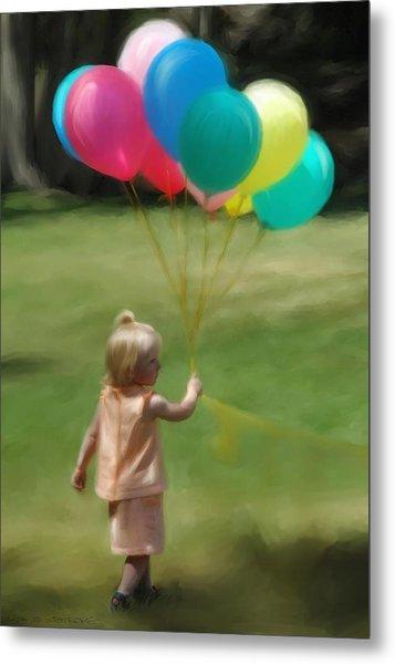 Birthday Balloons Metal Print by Lisa  Westrope