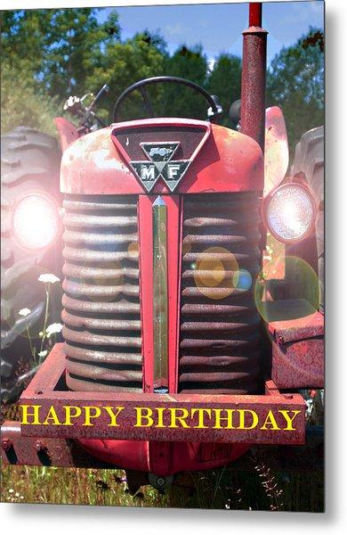 Birthday Card -- Big M-f Metal Print