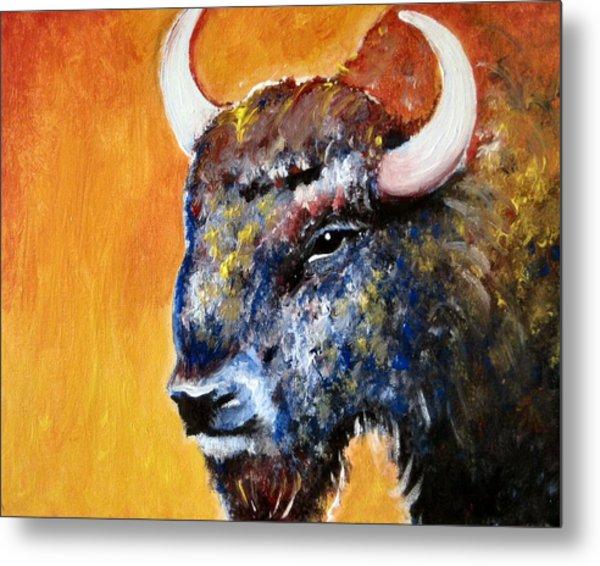 Bison Metal Print by Anastasis  Anastasi