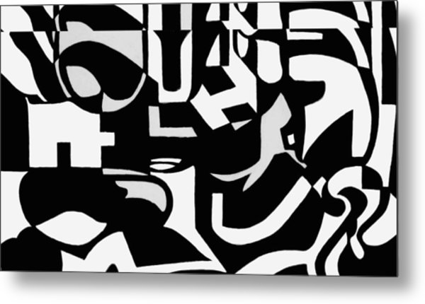 Black And White Still Life Metal Print