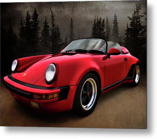 Black Forest - Red Speedster Metal Print