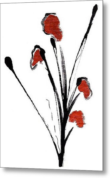 black with a touch of red  A Metal Print by Mimo Krouzian