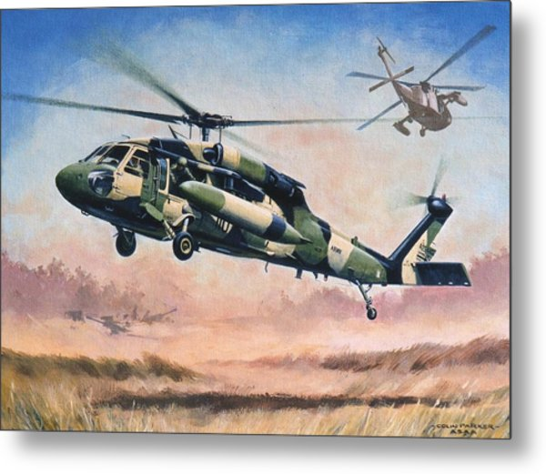 'blackhawk Manoevours' Metal Print