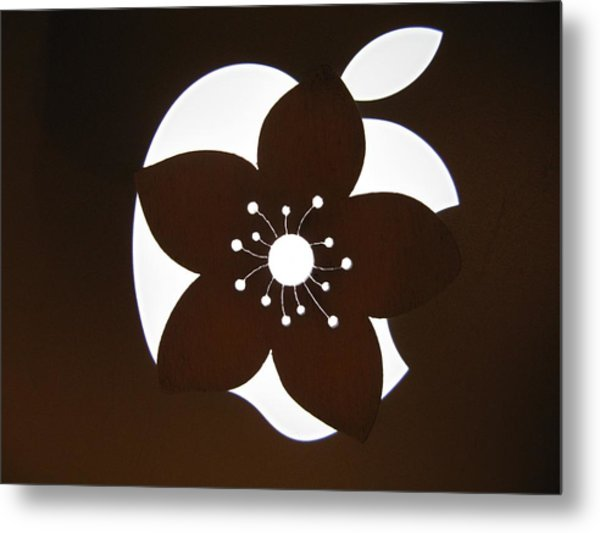 Blooming Apple Mac Metal Print