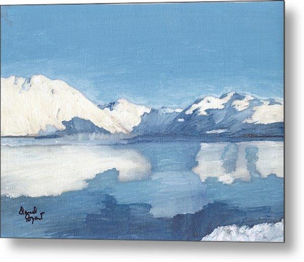 Blue Alaska Metal Print by David Poyant