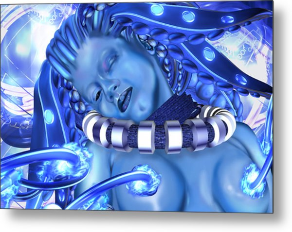 Blue Beauty 2 Metal Print by Claude-Robert Policart
