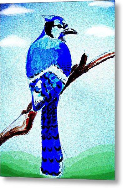 Blue Bird Metal Print by Alfredo Lozano