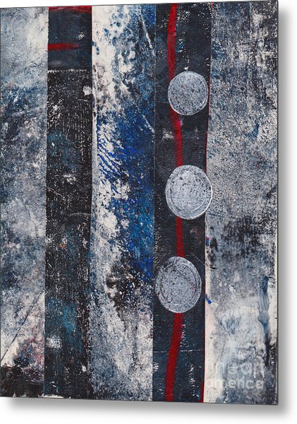 Blue Black Collage Metal Print