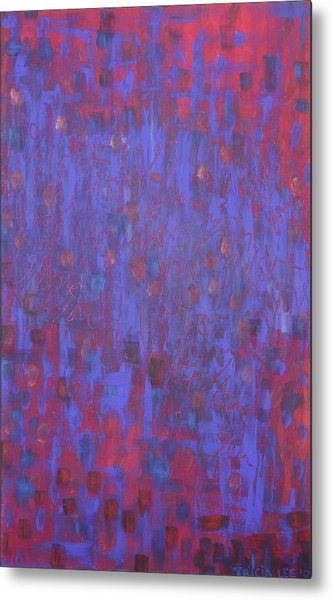 Blue Blue I Love You. Metal Print by Tricia lee Kelshall