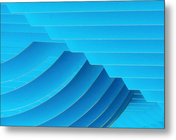 Blue Geometric Abstract 1 Metal Print
